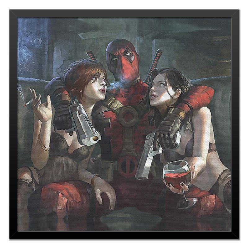 Холст 50x50 Printio Deadpool and girls цена и фото