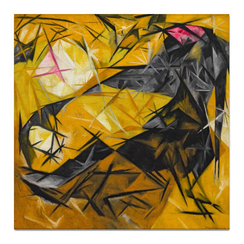 Холст 50x50 Printio Кошки (розовое, черное и желтое)