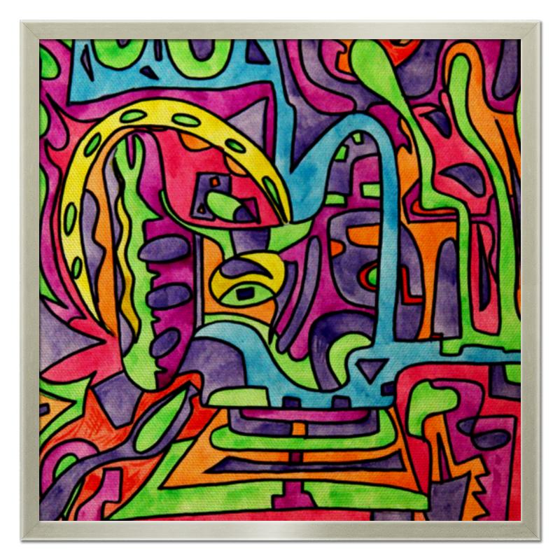 Холст 50x50 Printio Fp`pf-o[]80 часы квадратные из пластика под дерево printio живописные краски