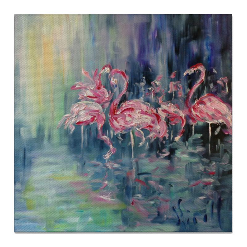 Холст 50x50 Printio Розовый фламинго холст 50x50 printio розовый закат