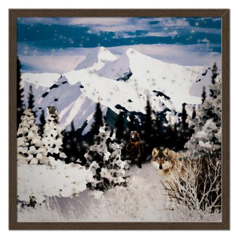 Холст 50x50 Printio Зимний пейзаж