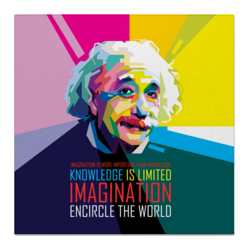 Холст 50x50 Printio Альберт эйнштейн книги феникс так говорил альберт эйнштейн