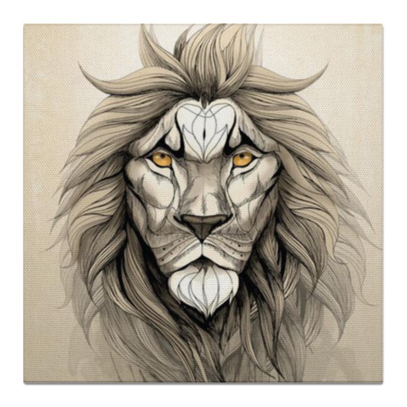 Холст 50x50 Printio Царь зверей.лев. картина на холсте decoretto art царь зверей 60 х 30 см