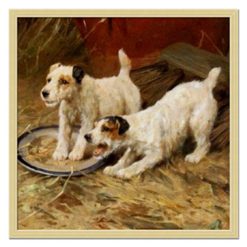 Холст 50x50 Printio 2018 год желтой собаки цена