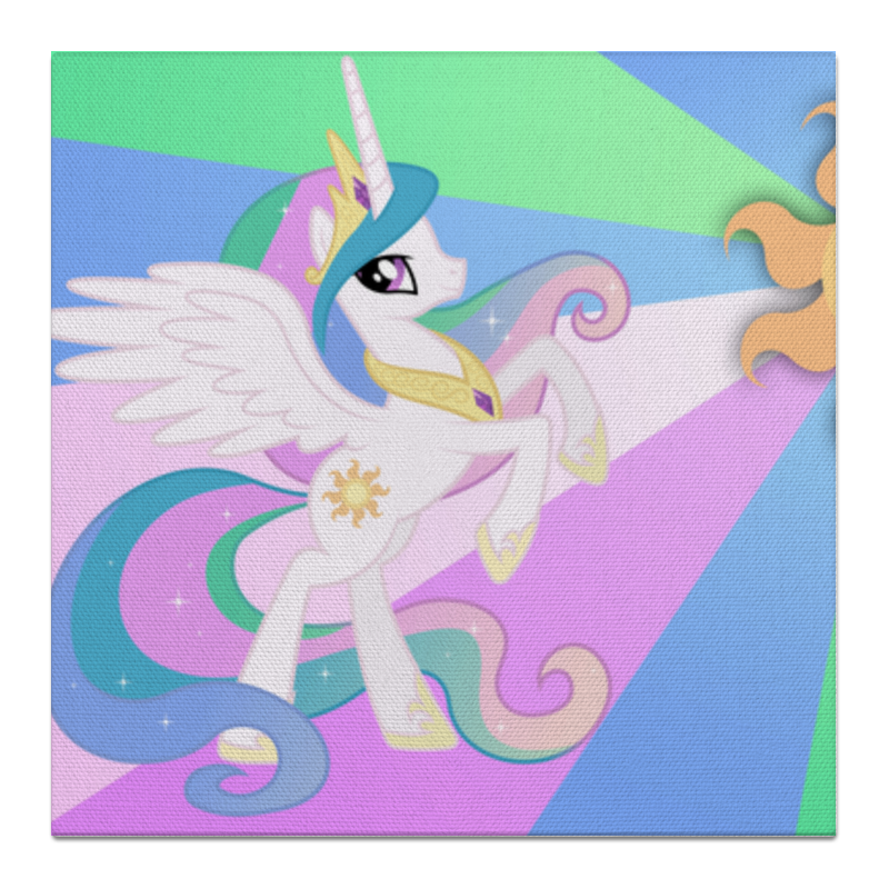 Холст 50x50 Printio Princess celestia color line холст 30x30 printio princess celestia color line