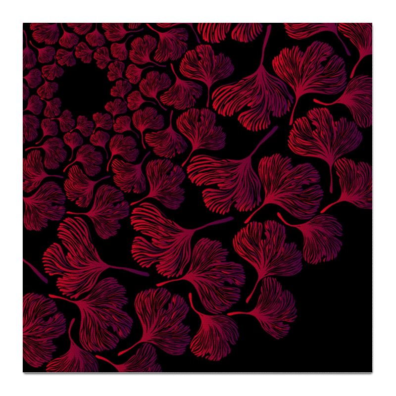 цена на Printio Орнамент из красных листьев гинкго