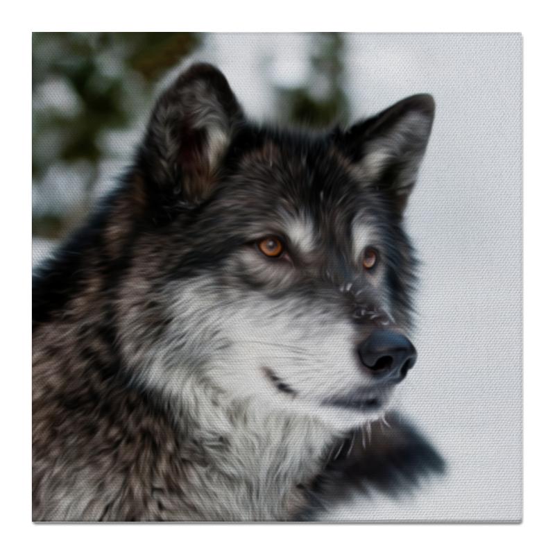 Холст 50x50 Printio Серый волк сувенир волк