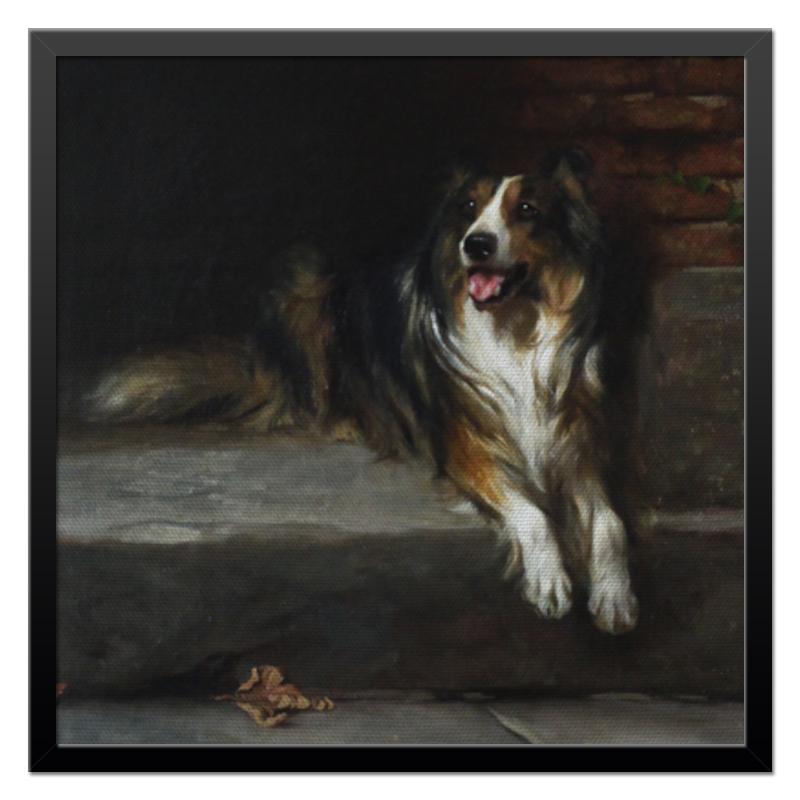 Холст 50x50 Printio Колли (картина артура вардля) картина 1245262