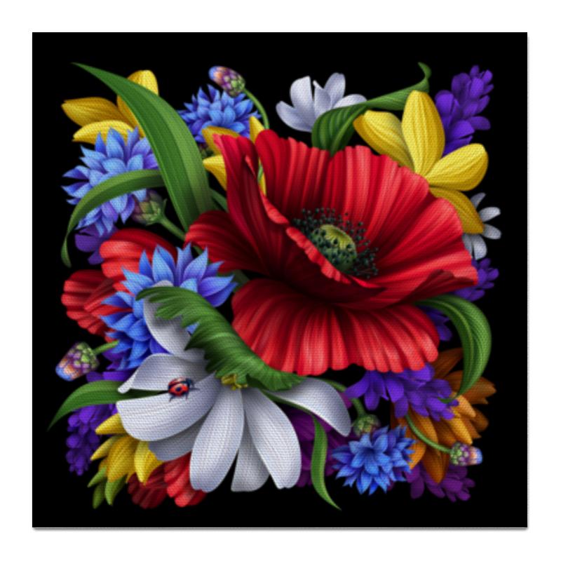 Холст 50x50 Printio Композиция цветов композиция из цветов жду свидания