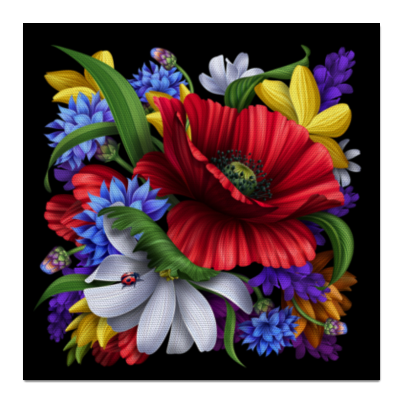 Холст 50x50 Printio Композиция цветов композиция подарок осени
