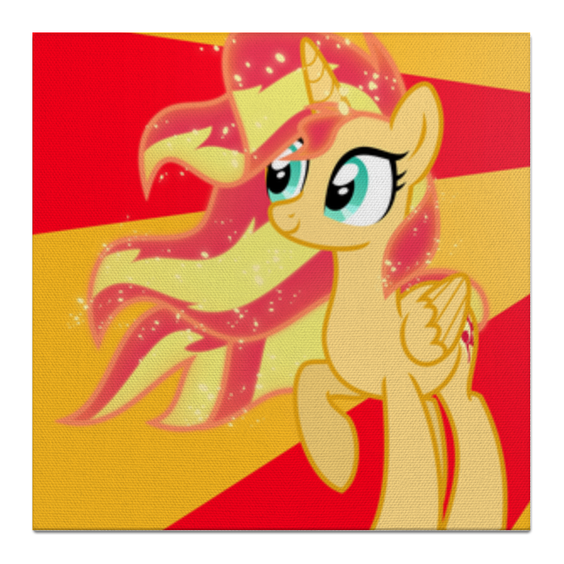 Холст 50x50 Printio Sunset shimmer color line холст 50x50 printio fluttershy color line