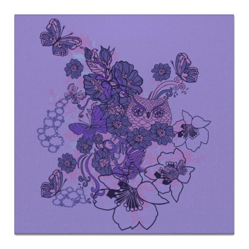 Холст 50x50 Printio Сова в цветах чехол для ноутбука 12 printio сова в цветах