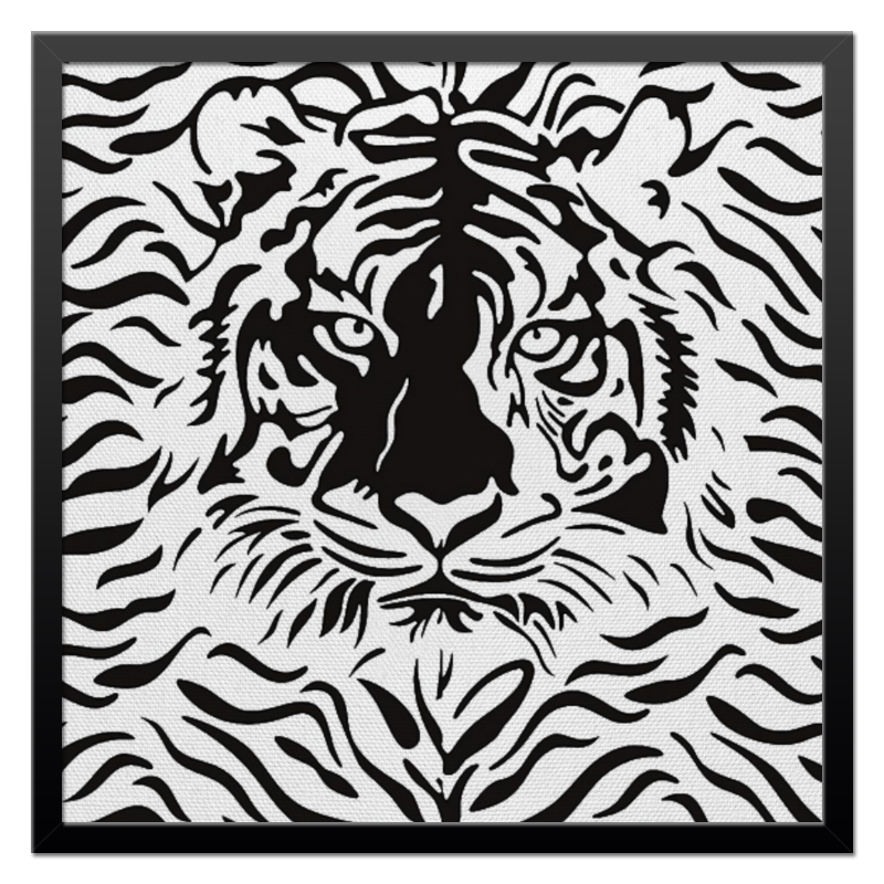 Холст 50x50 Printio Взгляд тигра хоук к в поисках тигра