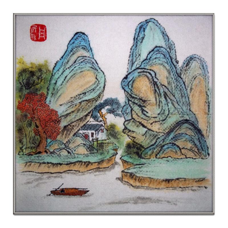 Холст 50x50 Printio Два столпа блузка в китайском национальном стиле