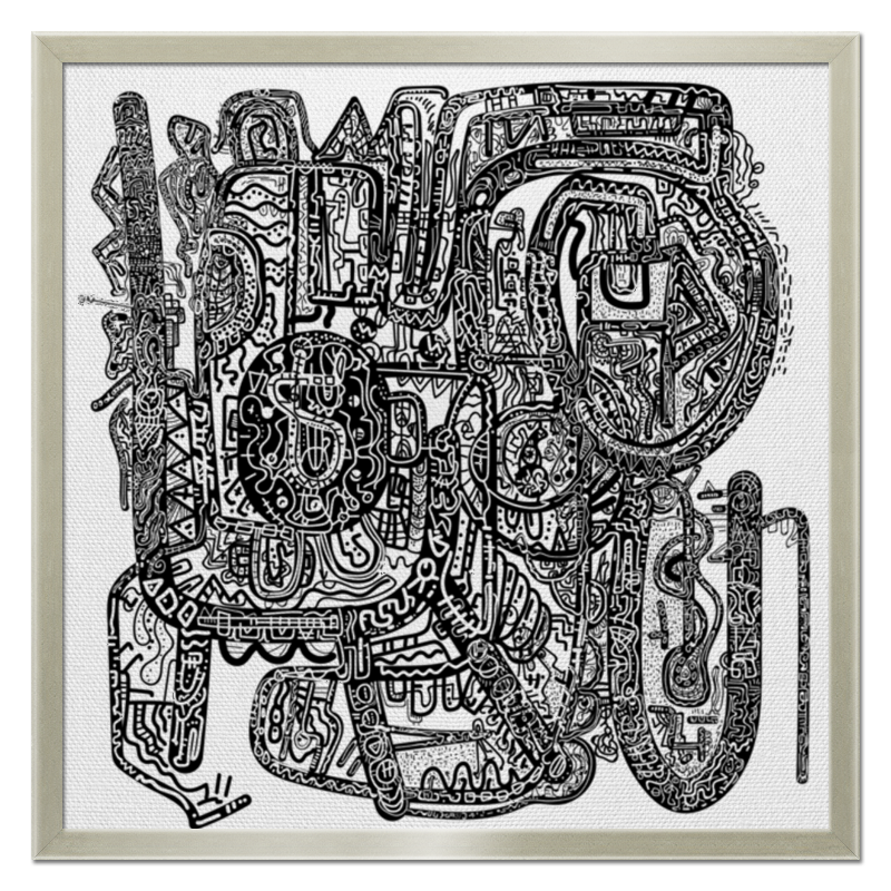 Холст 50x50 Printio Петрушкин лабиринт цена 2017