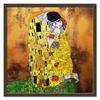 "Холст 50x50 ""Поцелуй(Gustav Klimt)"" - любовь, поцелуй, густав климт, объятия"
