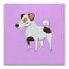 """Холст 50x50 """"ДЖЕК РАССЕЛ.СОБАКА"""" - майкл джексон, щенок, собака, животное, рассел"""