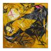 """Холст 50x50 """"Кошки (Розовое, черное и желтое)"""" - картина, гончарова"""