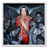 "Холст 50x50 ""Michael Jackson"" - майкл джексон, поп музыка, триллер, попса, король поп-музыки"