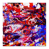 "Холст 50x50 ""Дочкины шедевры"" - рисунок, абстракция, яркие краски, картина"