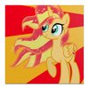 "Холст 50x50 ""Sunset Shimmer Color Line"" - sun, cutiemark, sunset shimmer"