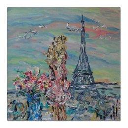 """Холст 50x50 """"Париж"""" - лето, красота, небо, париж, paris"""