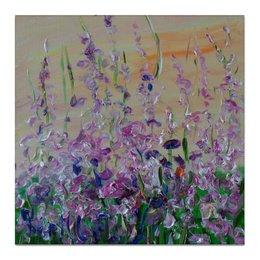 """Холст 50x50 """"Иван чай"""" - красиво, люблю, цветет, летом, иван чай"""
