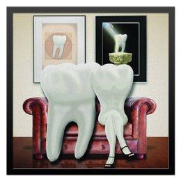 "Холст 50x50 ""зубная пара"" - зубы, стоматология"