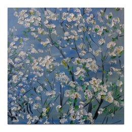 "Холст 50x50 ""Весна"" - весна, красота, рассвет, май, белые цветы"