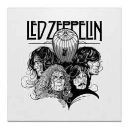 "Холст 50x50 ""Led Zeppelin"" - рок, группы, rock and roll, led zeppelin, музыка"