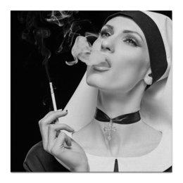 """Холст 50x50 """"Woman (девушка)"""" - крест, woman, кинозвезда, сексуальность, девушка с сигаретой"""
