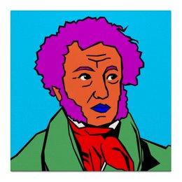 """Холст 50x50 """"Пушкин"""" - пушкин, литература, знаменитость, наше всё, русский язык"""