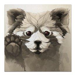 "Холст 50x50 ""Панда"" - арт, животные, панда, природа, иллюстрация"