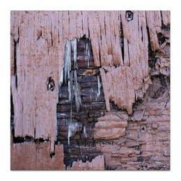 """Холст 50x50 """"""""Деревянная"""""""" - крутой, оригинальный, стильный, деревянный, фактурный"""