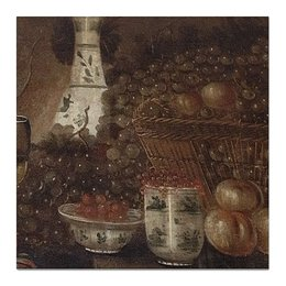 "Холст 50x50 ""Ваза с фруктами"" - фрукты, картина, натюрморт"