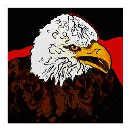 """Холст 50x50 """"Белоголовый орлан"""" - животные, птицы, орел, белоголовый орлан, символ сша"""