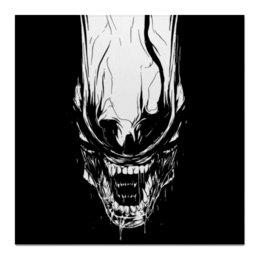 """Холст 50x50 """"Xenoblack"""" - стиль, alien, movie, alienmovie, ellenripley"""
