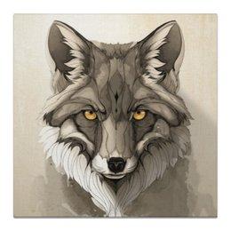 """Холст 50x50 """"Волк."""" - животные, взгляд, природа, живопись, волк"""