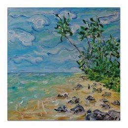 """Холст 50x50 """"Шри Ланка"""" - рай, море, пляж, песок, берег"""