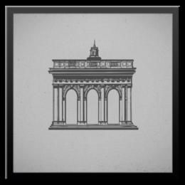 """Холст 50x50 """"Триумфальная арка"""" - арт, в подарок"""