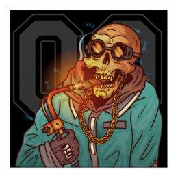 """Холст 50x50 """"Swag гангстер"""" - черепа, скелет, крутые, дизайнерские, сигара"""