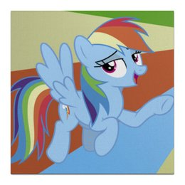 "Холст 50x50 ""Rainbow Dash Color Line"" - rainbow dash, magic, fim, cutiemark, friendship"