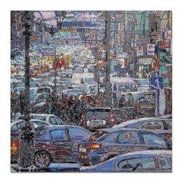 """Холст 50x50 """"Охотный ряд"""" - арт, москва, город, пейзаж, живопись"""
