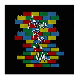 "Холст 50x50 ""Another Brick in the Wall"" - арт, прикольные, пинк флойд, pink floyd, лего"