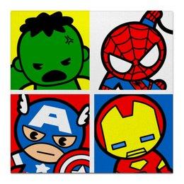 """Холст 50x50 """"Мстители"""" - арт, комиксы, супергерои, pop art, мстители"""