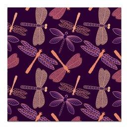 """Холст 50x50 """"Стрекозы"""" - красиво, ярко, природа, насекомые, стрекозы"""