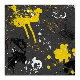 """Холст 50x50 """"Абстракция асфальт"""" - абстракция, абстрактный, жидкий акрил"""