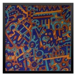 "Холст 50x50 ""y7t6ggjlla11zzz"" - арт, узор, абстракция, фигуры, текстура"