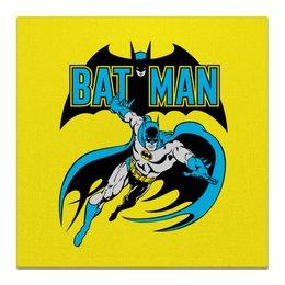 """Холст 50x50 """"Бэтмен"""" - комиксы, batman, супергерои, бэтмен, vintage"""