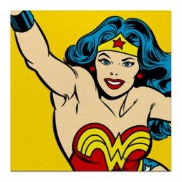 """Холст 50x50 """"Чудо-женщина"""" - комиксы, супергерои, wonder woman, чудо женщина, лига справедливости"""